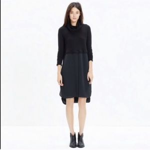 Madewell | Black turtle neck long sleeves dress